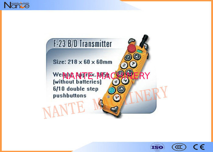 Glass Fiber Electric Hoist Remote Control Hoist Control Switch Easy Customization