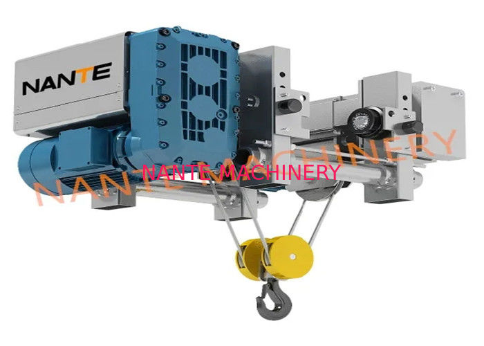 Save Workshop Space Electric Wire Rope Hoist With Trolley More Lifting Height