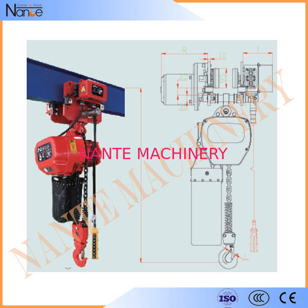 Remote Control 20 Ton / 30 Ton Electric Chain Hoist With Running H Beam